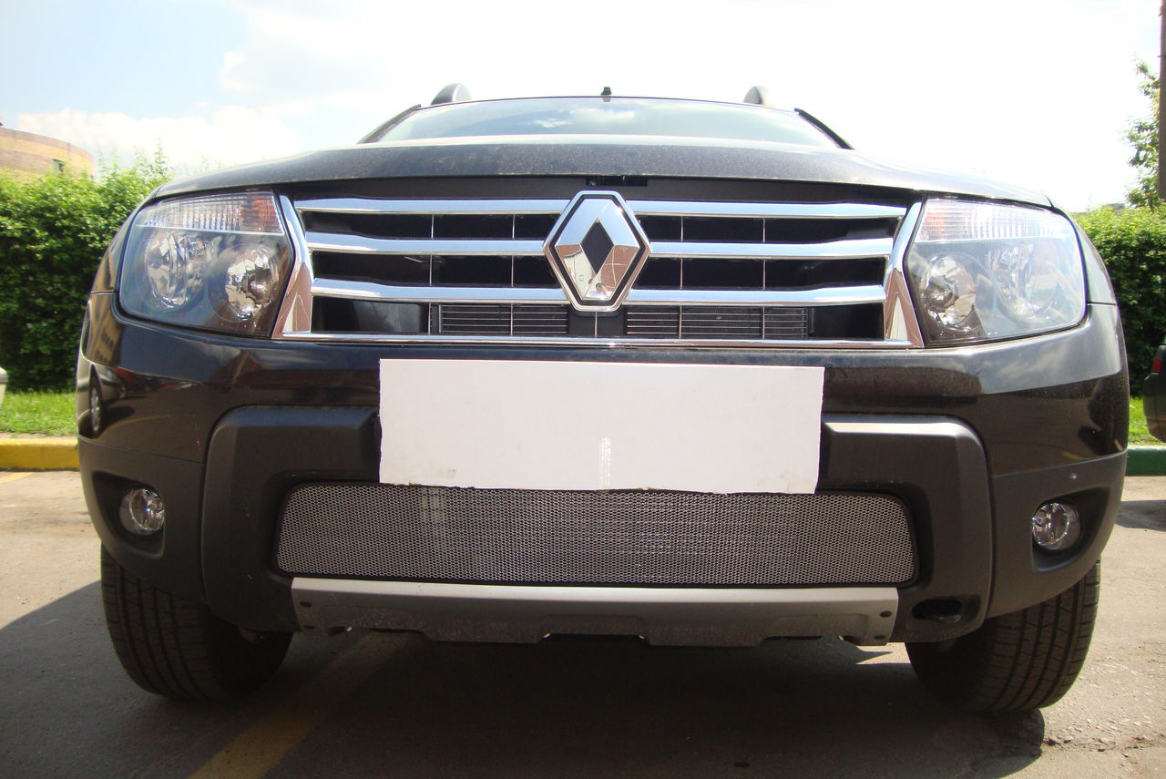 Защита радиатора  Renault Duster chrome