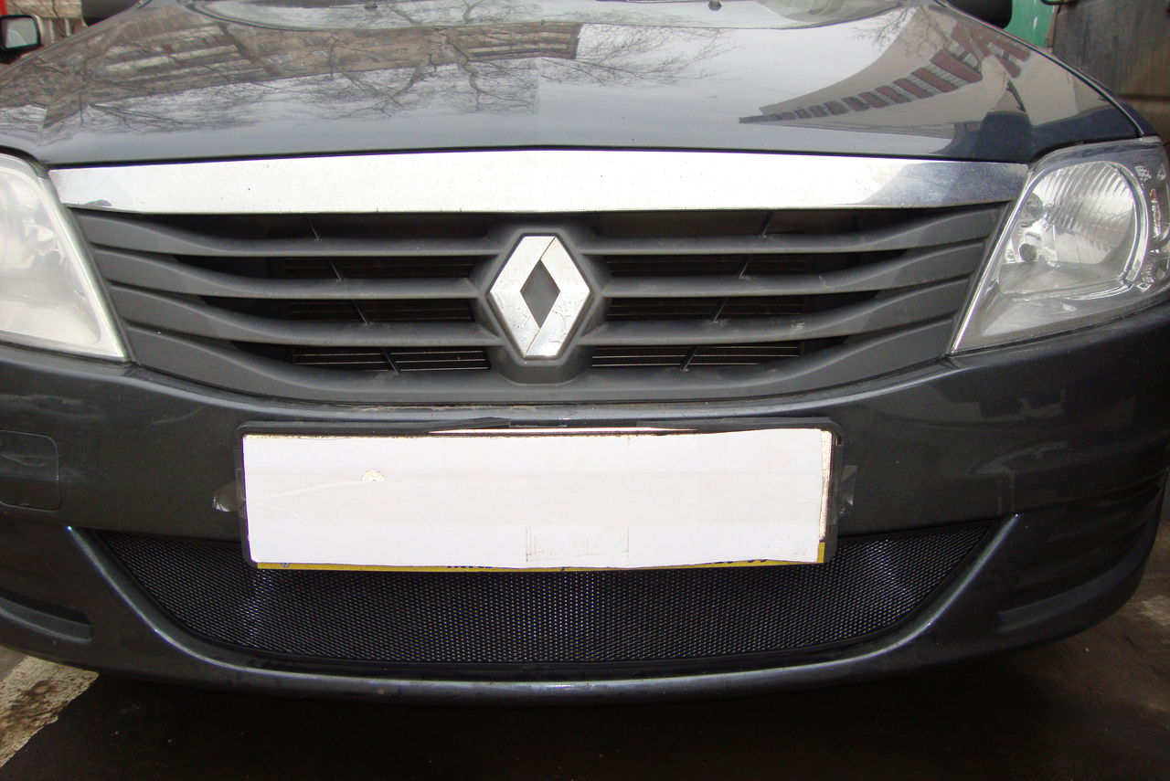 Защита радиатора  Renault Logan 2010-2013 black