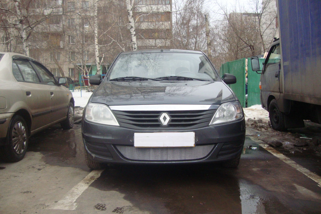 Защита радиатора  Renault Logan 2010-2013 chrome