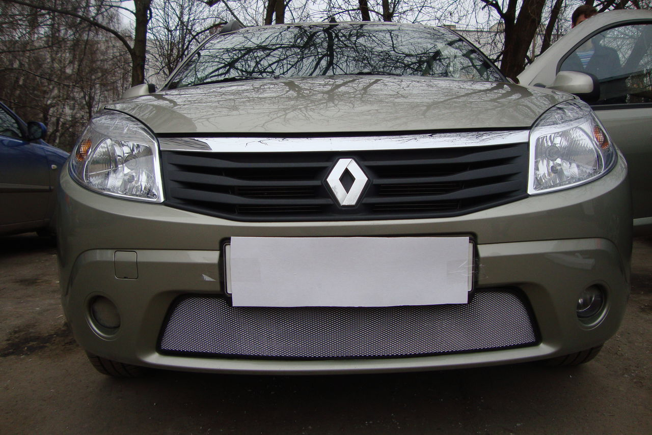 Защита радиатора  Renault Sandero 2010-2013 chrome