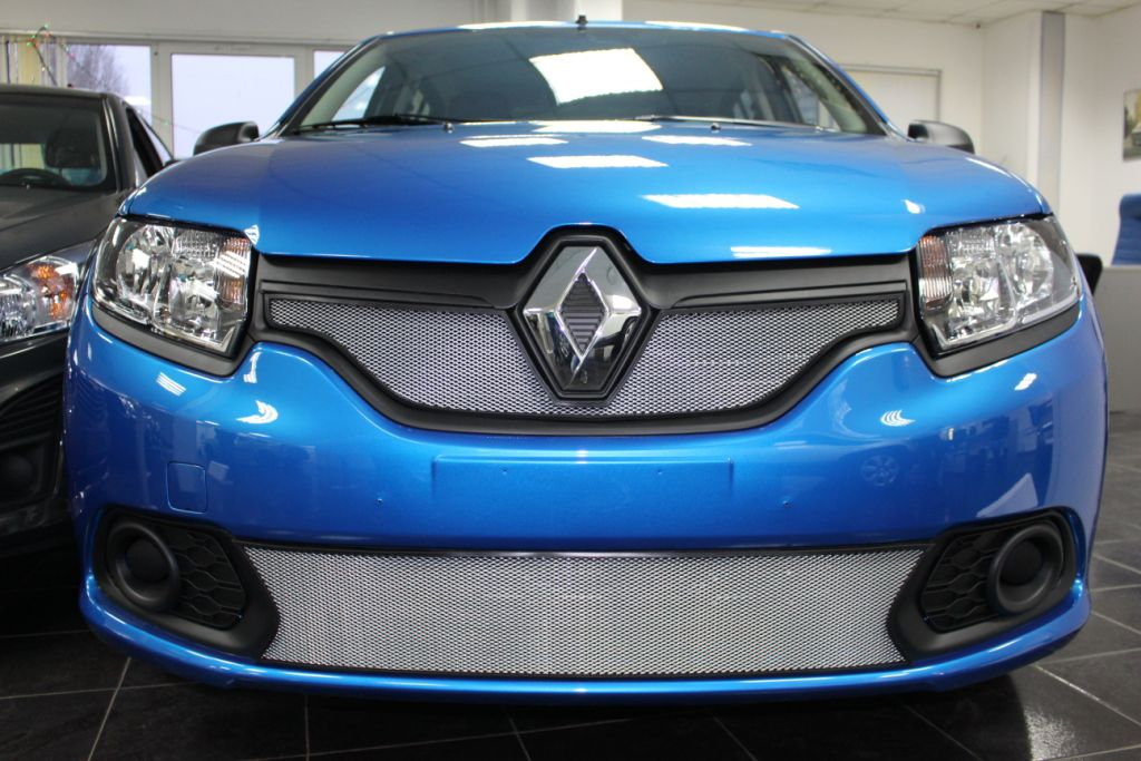Защита радиатора Renault Sandero  2014- chrome низ