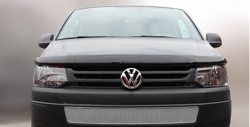 Защита радиатора Volkswagen T5 рестайлинг 2009-/Transporter /Multivan/Caravelle chrome