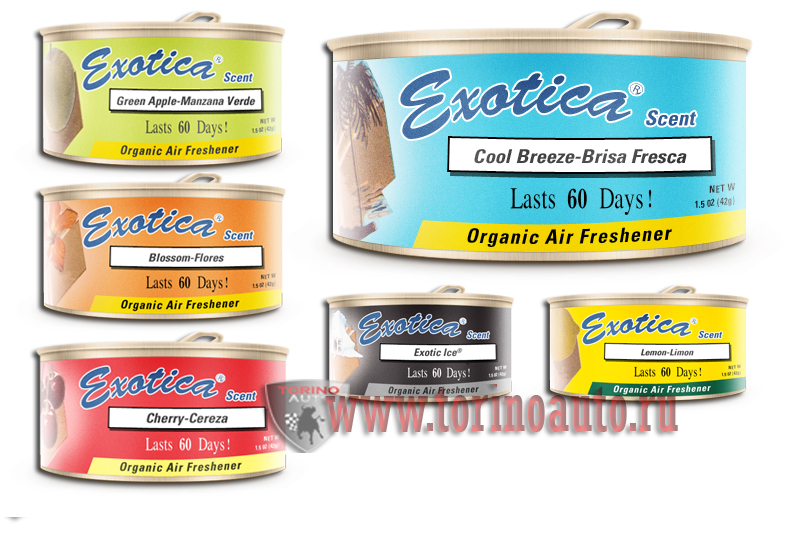 Ароматизатор ж/б organic Exotica Антитабак.  Exotica Scent Counter Display  Smoke Gone ESC24-SMO/42г