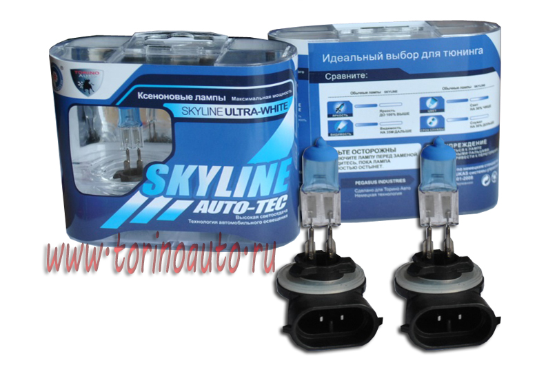 "Лампа галогеновая "" SKYLINE"" H27-881 12V27W (ULTRA-WHITE 3800K) комп. 2шт"