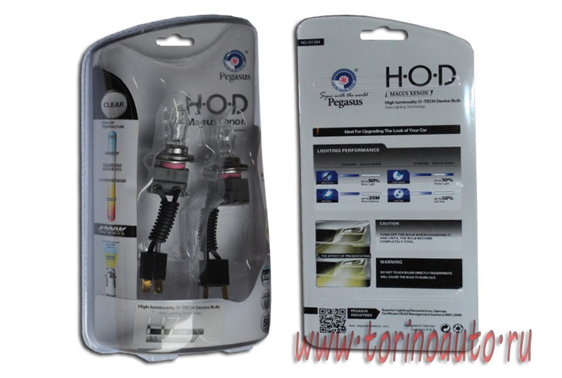 "Лампа галогеновая ""HOD MAGUS XENON"" (clear-tech)газонаполненные  4300K +50%  H7 12V-55W  (комплект 2"