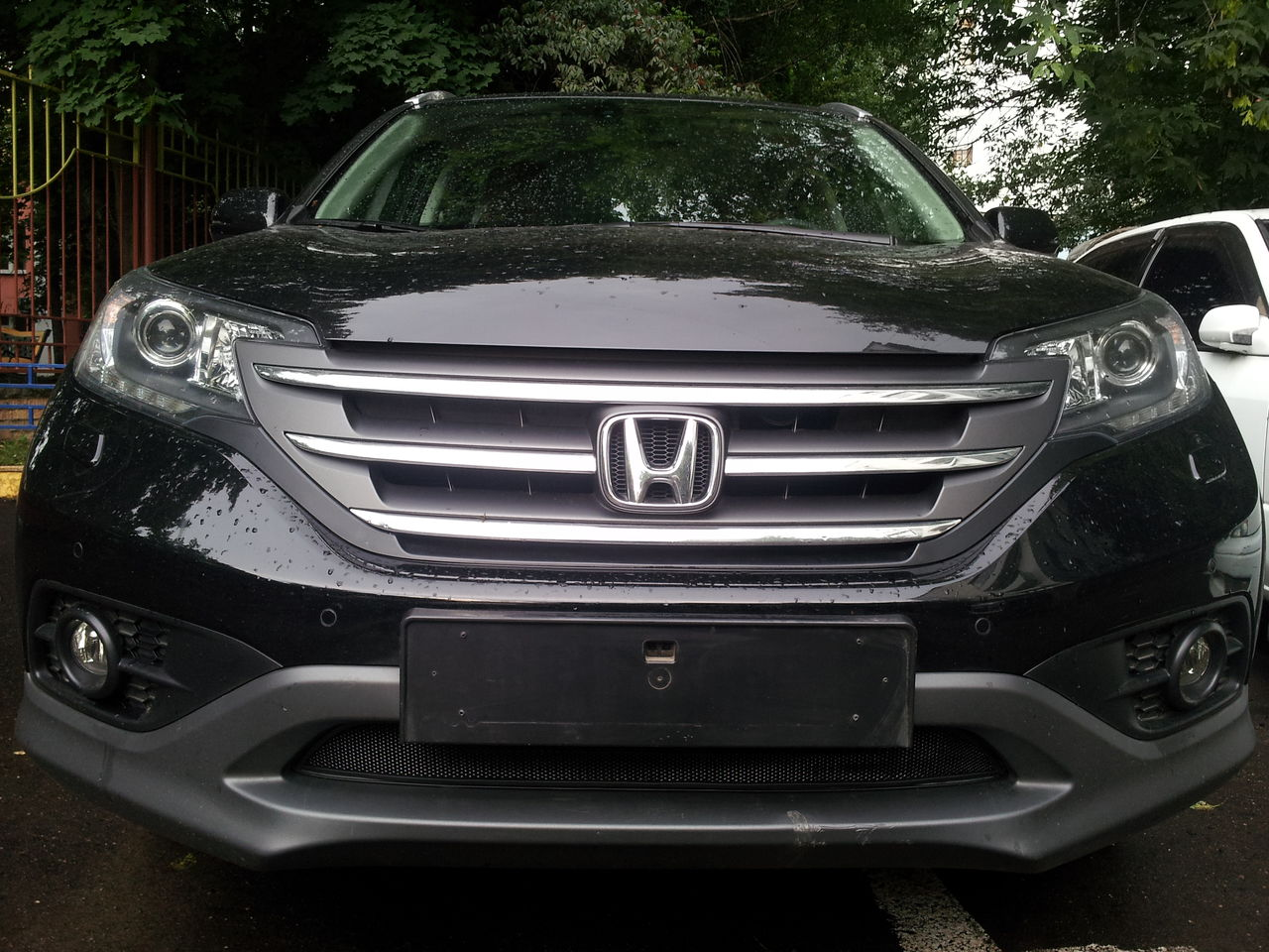 Защита радиатора Honda CR-V IV 2012- 2.0 black