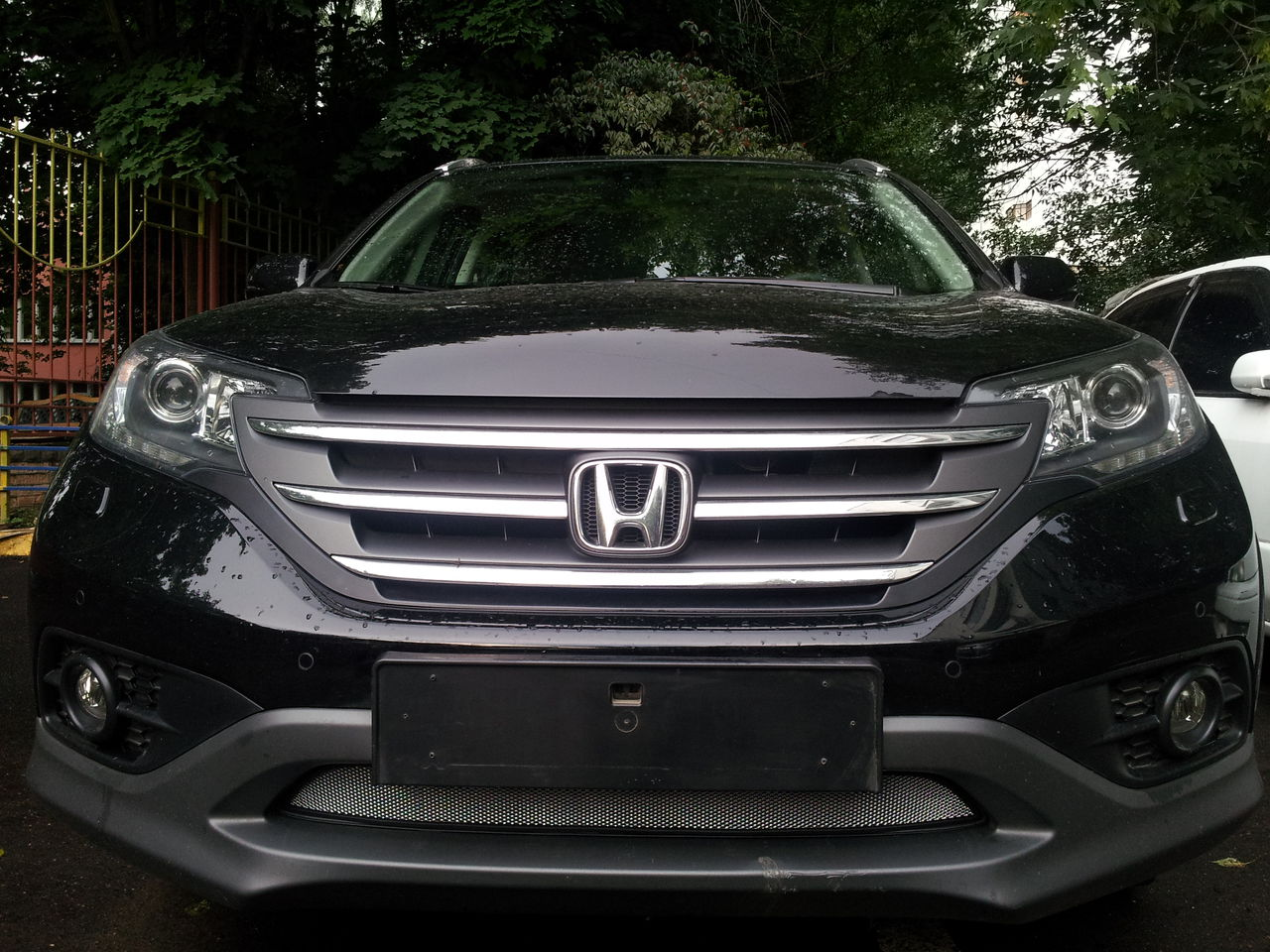 Защита радиатора Honda CR-V IV 2012- 2.0 chrome