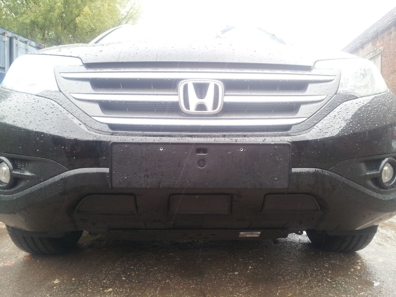 Защита радиатора Honda CR-V IV 2012- 2.4 black