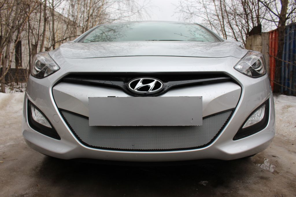 Защита радиатора  Hyundai i30  2012 chrome